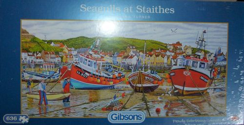 Jigsaw- Seagulls at Staithes